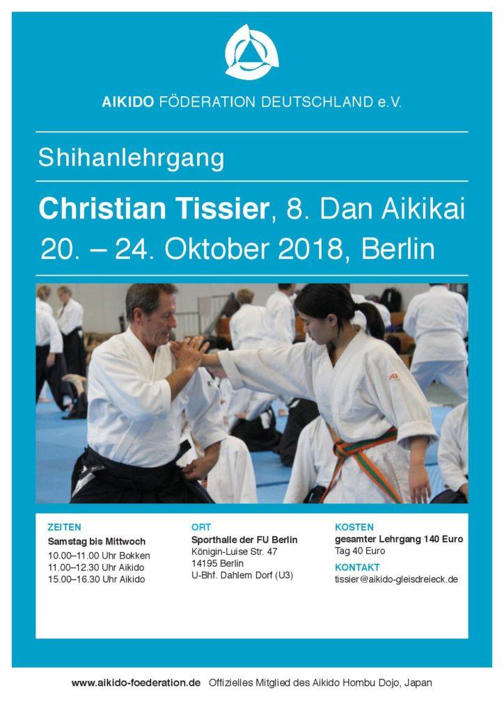 Christian Tissier 8 Dan - Berlin 20-24.09.2018 @ Berlin